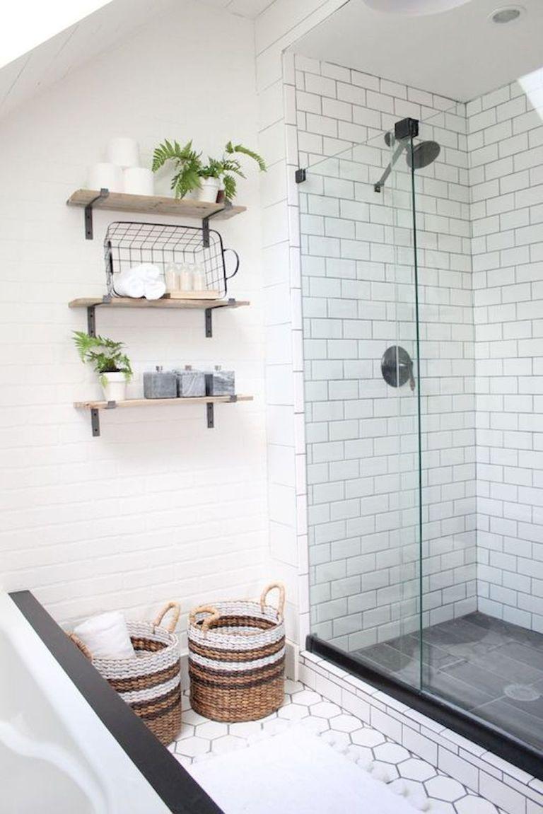 80 Awesome Farmhouse Tile Shower Decor Ideas (32 | Bathroom ...
