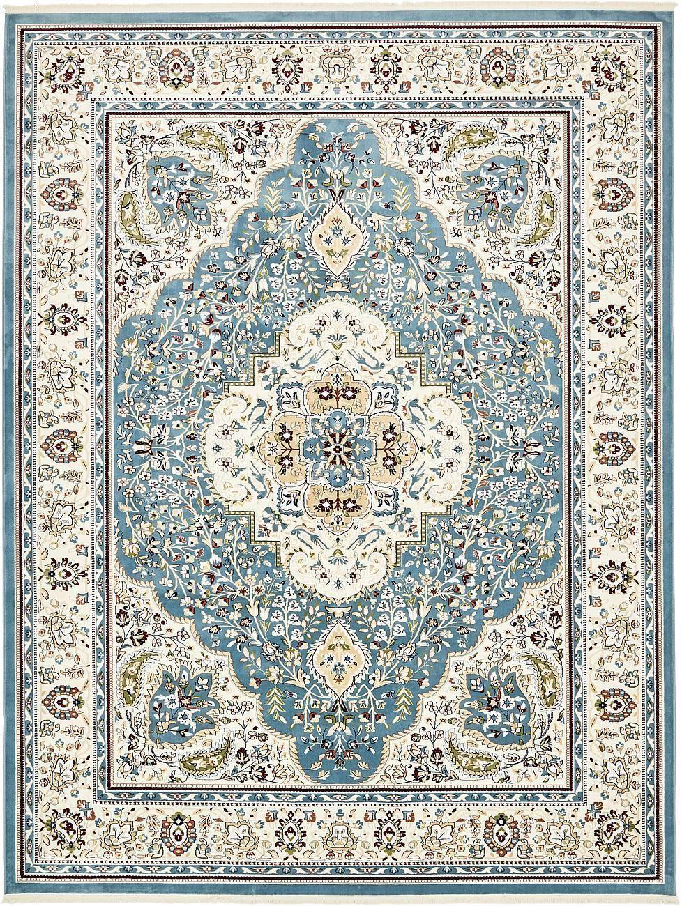 Blue 13 X 19 8 Tabriz Design Rug Area Rugs Esalerugs