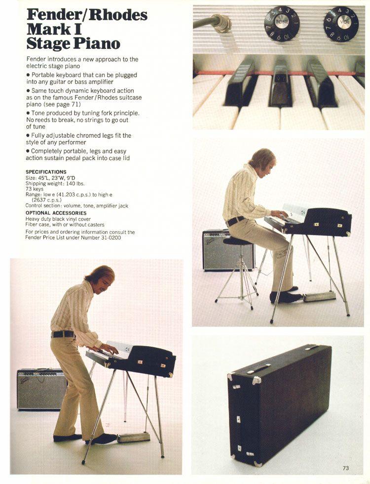 Fender Rhodes Mark I (1969-1974)