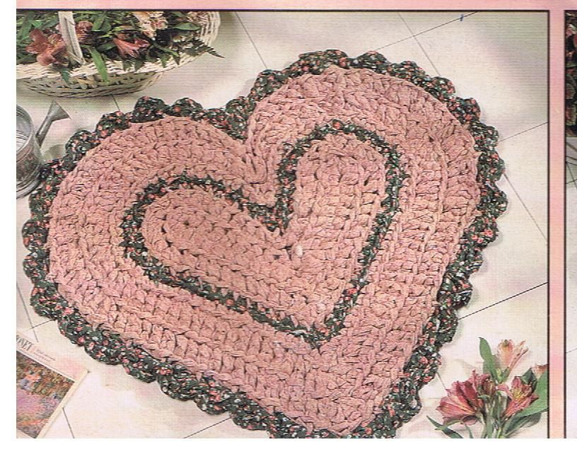 Crochet Pattern For Heart Shaped Rag Rug By Timbertrailscrafts, $3.00