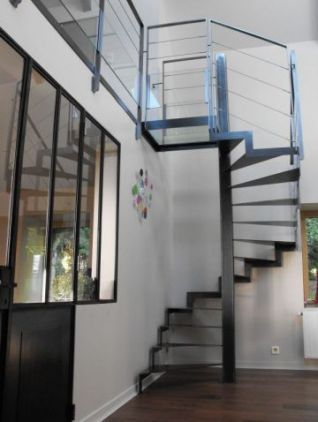 escalier 3 4 tournant zig zag escalier escalier. Black Bedroom Furniture Sets. Home Design Ideas