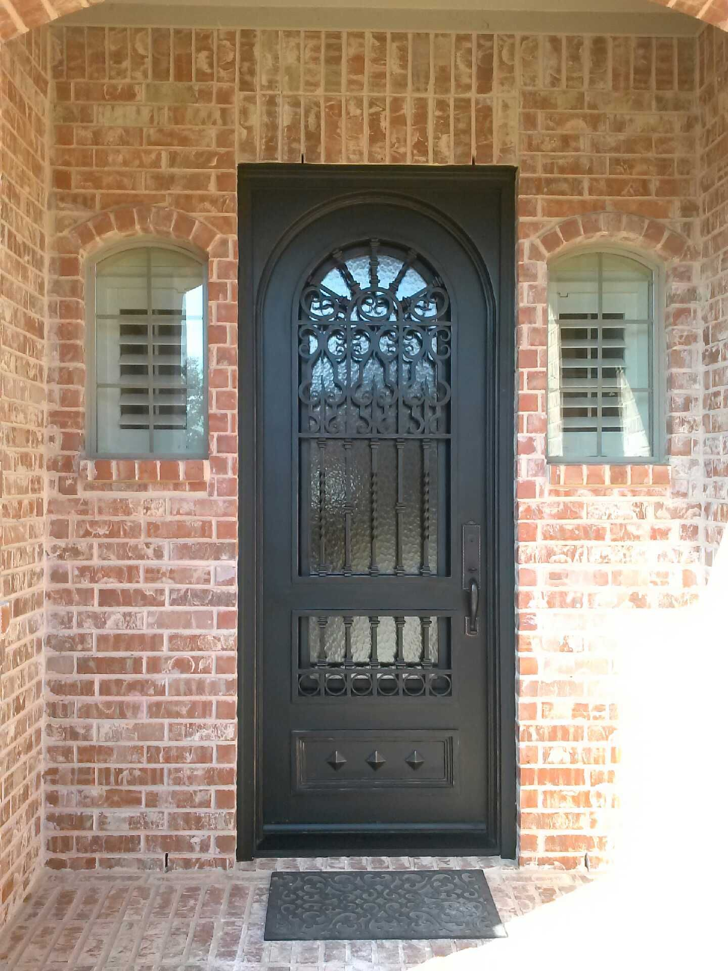 8ft Single Door With Square Frame With Arch Door And Arch Glass Arched Doors Single Doors Arched Windows