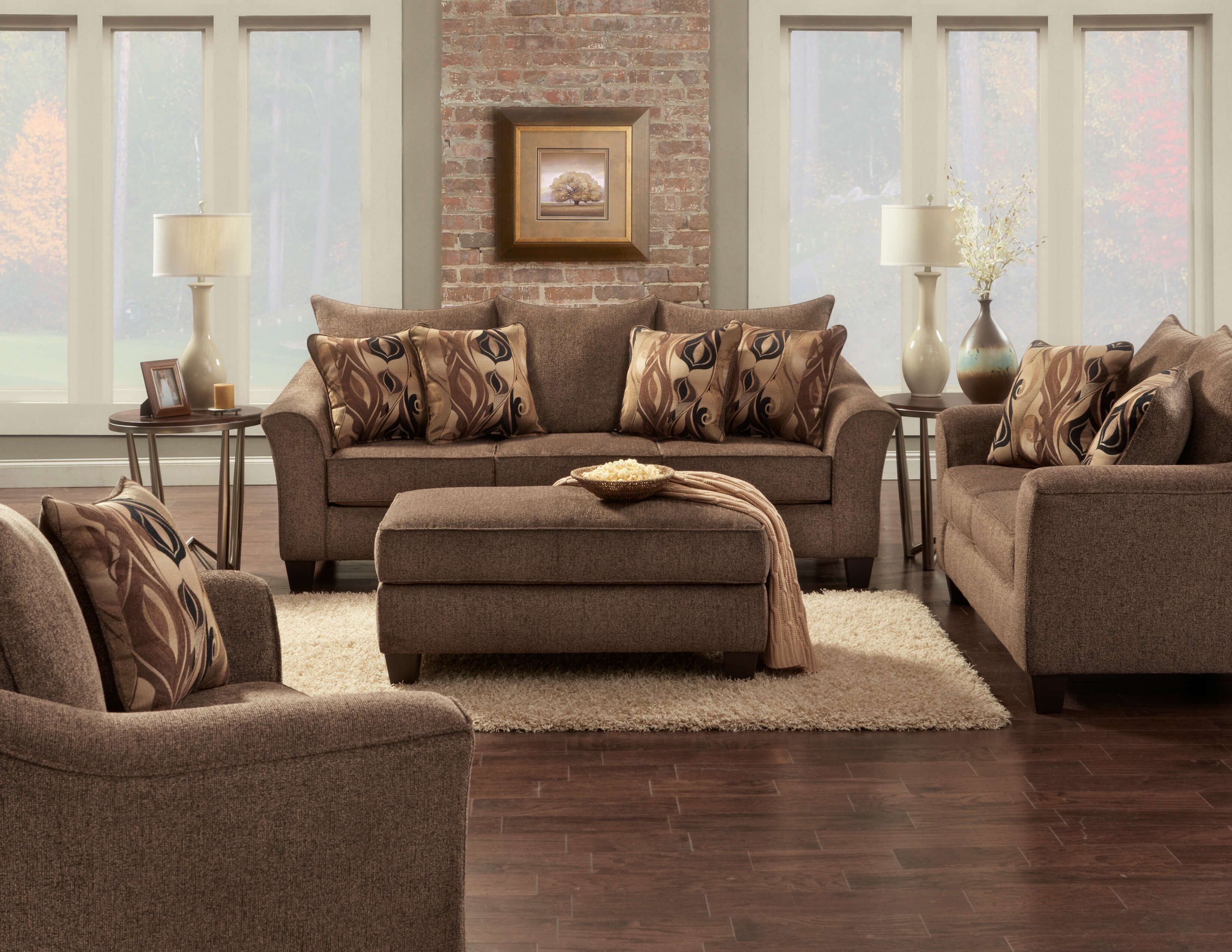 Best 7700 Camero Cafe Sofa And Loveseat Discontinued Brown 640 x 480
