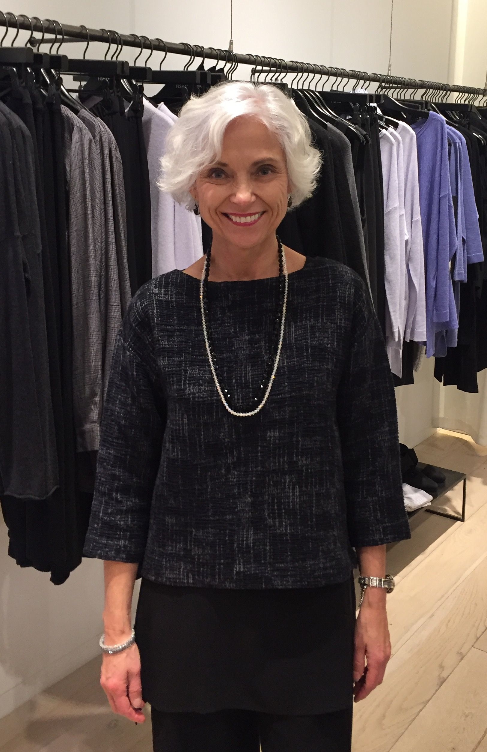 Working New Year's Eve at Eileen Fisher Chinook Centre