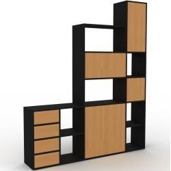 Photo of Regalsystem Schwarz – Regalsystem: Schubladen in Eiche & Türen in Eiche – Hochwertige Materialien –
