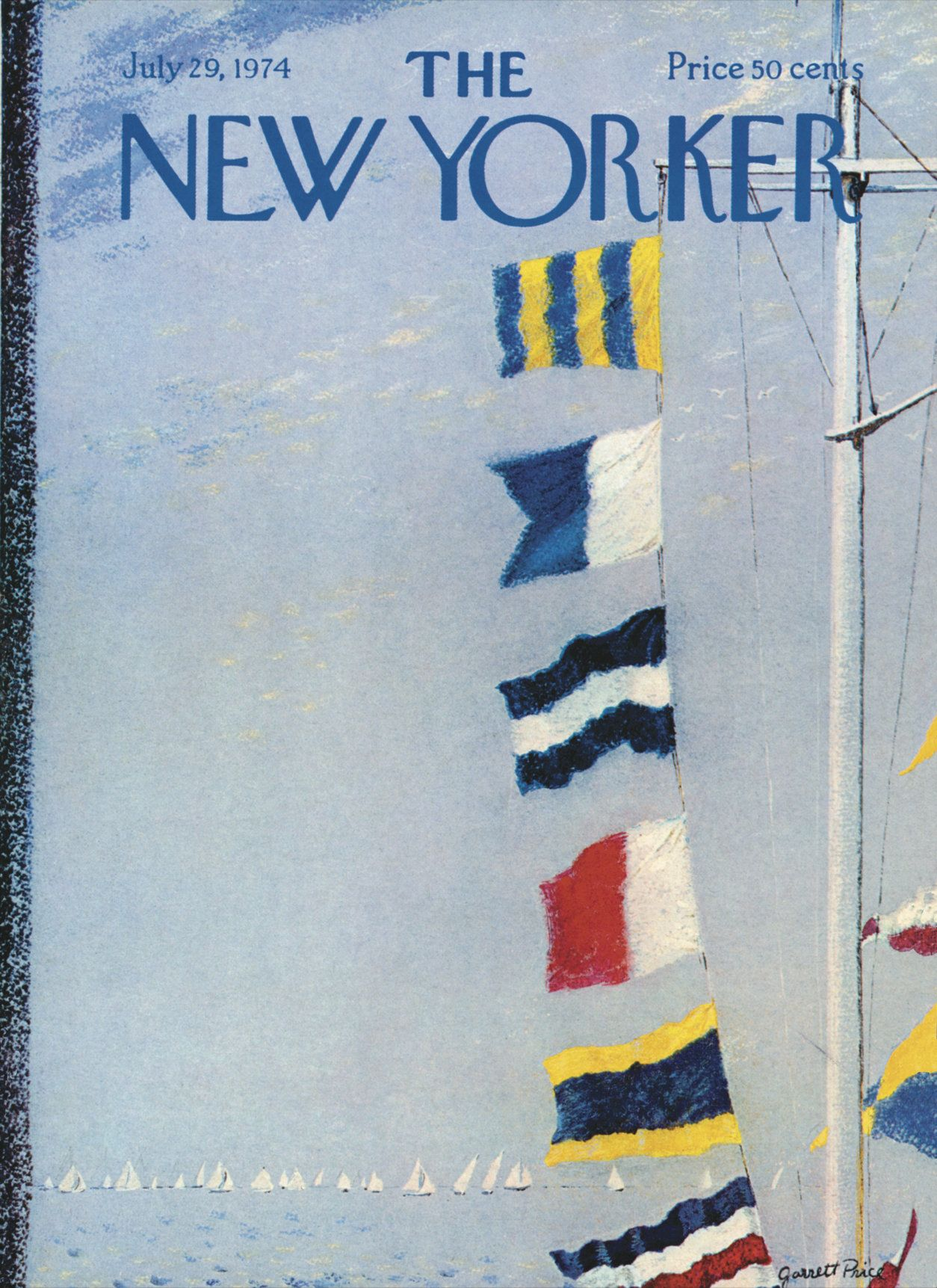 The New Yorker - Monday, July 29, 1974 - Issue # 2580 - Vol. 50 - N° 23 - Cover by : Garrett Price
