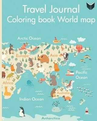 Travel journal coloring book world map wanderlust journals travel journal coloring book world map lana barce shop online for books in nz gumiabroncs Gallery