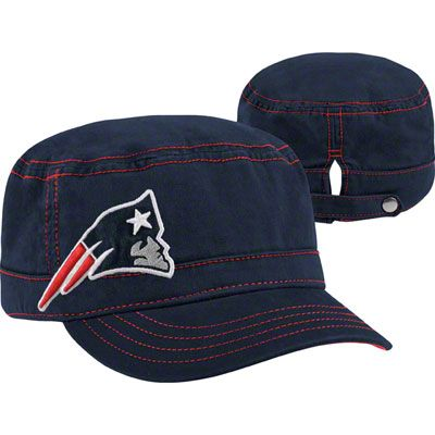 3f69bb1c025 New England Patriots Women s New Era Military Chic Cadet Hat ...