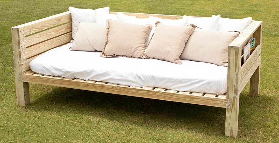 Free Daybed Plans Pallet Furniture Outdoor Outdoor Daybed