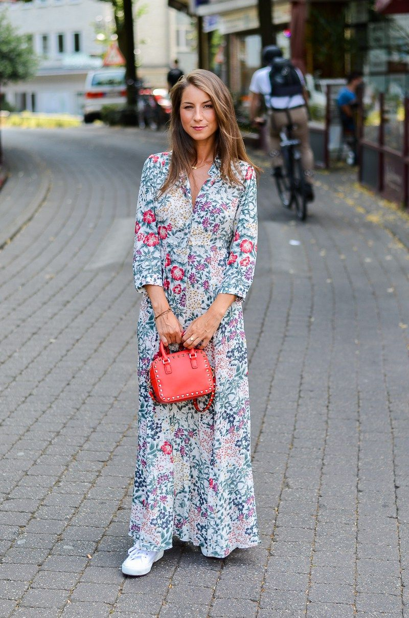 sporty romance zara maxi dress sneakers outfits. Black Bedroom Furniture Sets. Home Design Ideas