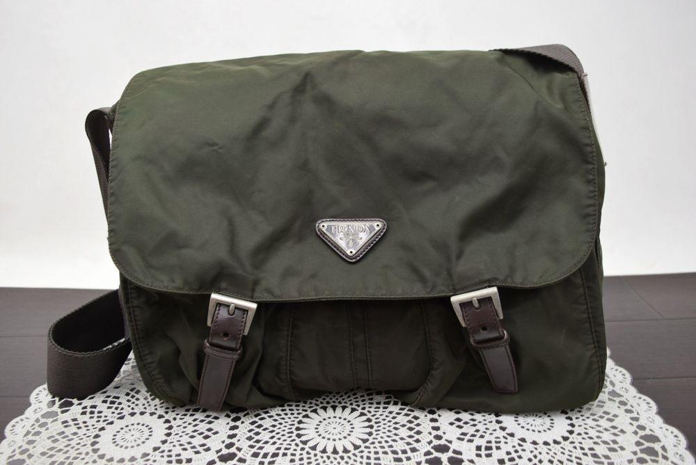 20c7b78ae1c911 Authentic Prada Messenger Bag Greens Nylon 357051 #fashion #clothing #shoes  #accessories #mensaccessories #bags (ebay link)