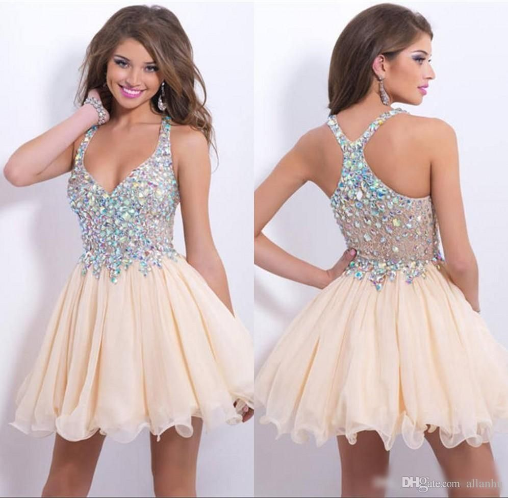 2016 cheap in stock short party dresses 2015 beaded crystals 2016 cheap in stock short party dresses 2015 beaded crystals rhinestones topped chiffon homecomingcocktail ombrellifo Image collections