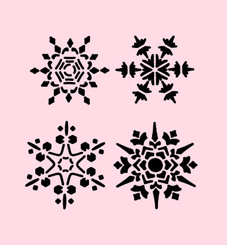 snowflake stencil snowflakes christmas stencils craft art template new 7