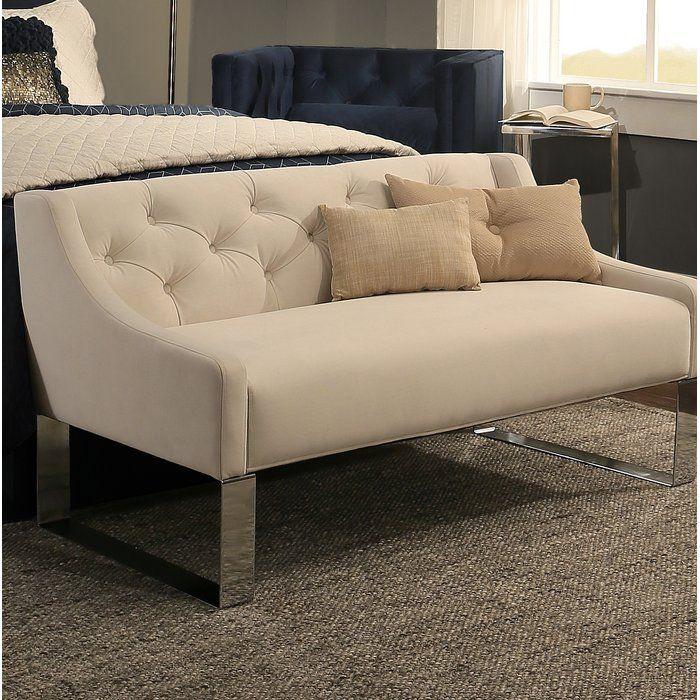 Alcott Hill Varian Upholstered Storage Bedroom Bench: Almondsbury Upholstered Bench