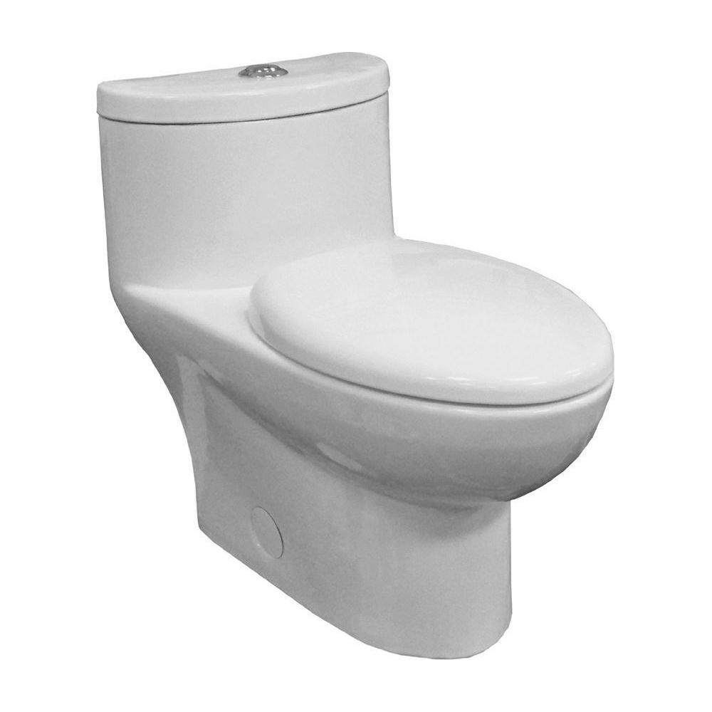 American Standard Tofino Complete 1 Piece 1 1 Gpf Dual Flush Elongated Toilet In White With Slow Close Seat 2996c206 020 Modern Toilet Shower Remodel Shower Remodel Diy