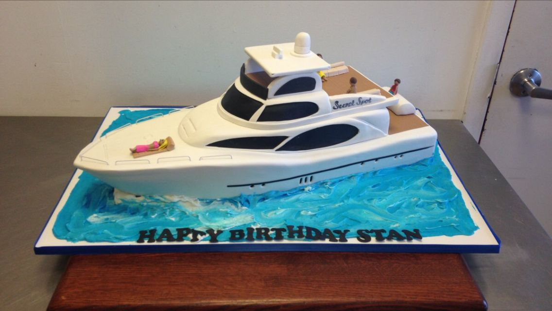 Yacht Cake With Images Boat Cake