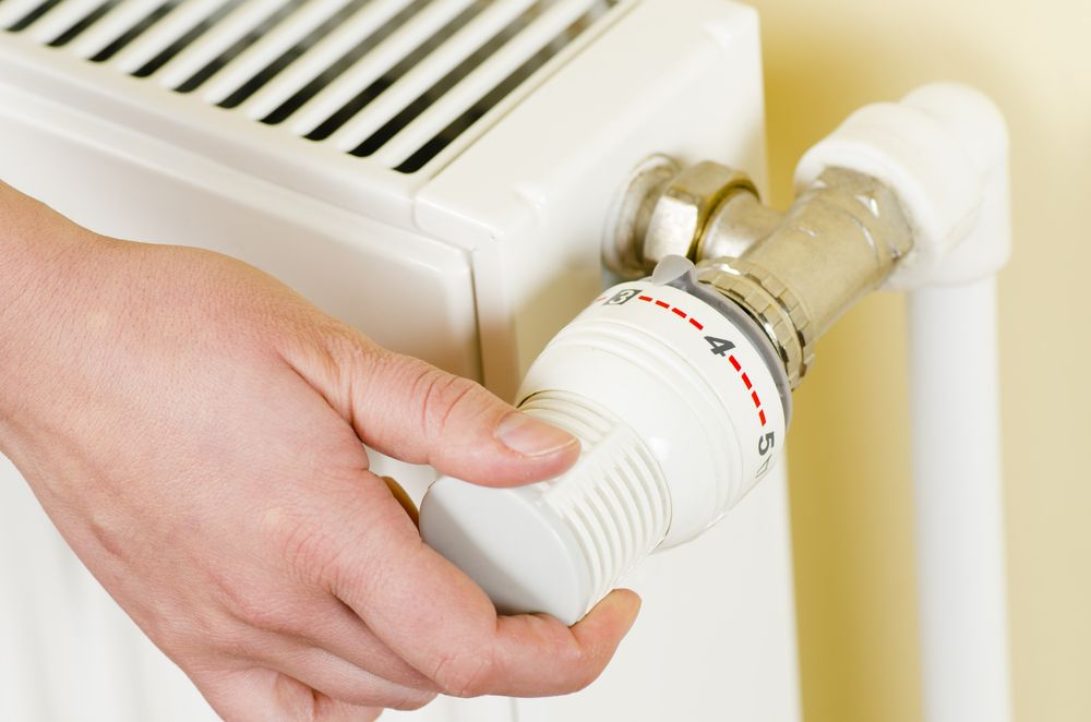 Turning heating dial