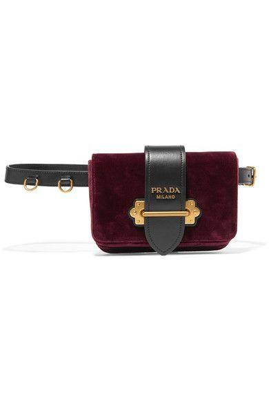 Prada   Leather-trimmed velvet belt bag   NET-A-PORTER.COM ... 297ed2cf48a