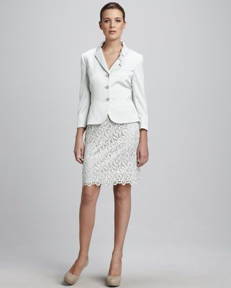46d7582de604 Lace-Skirt Suit by Tahari at Neiman Marcus. | Style Perfection ...