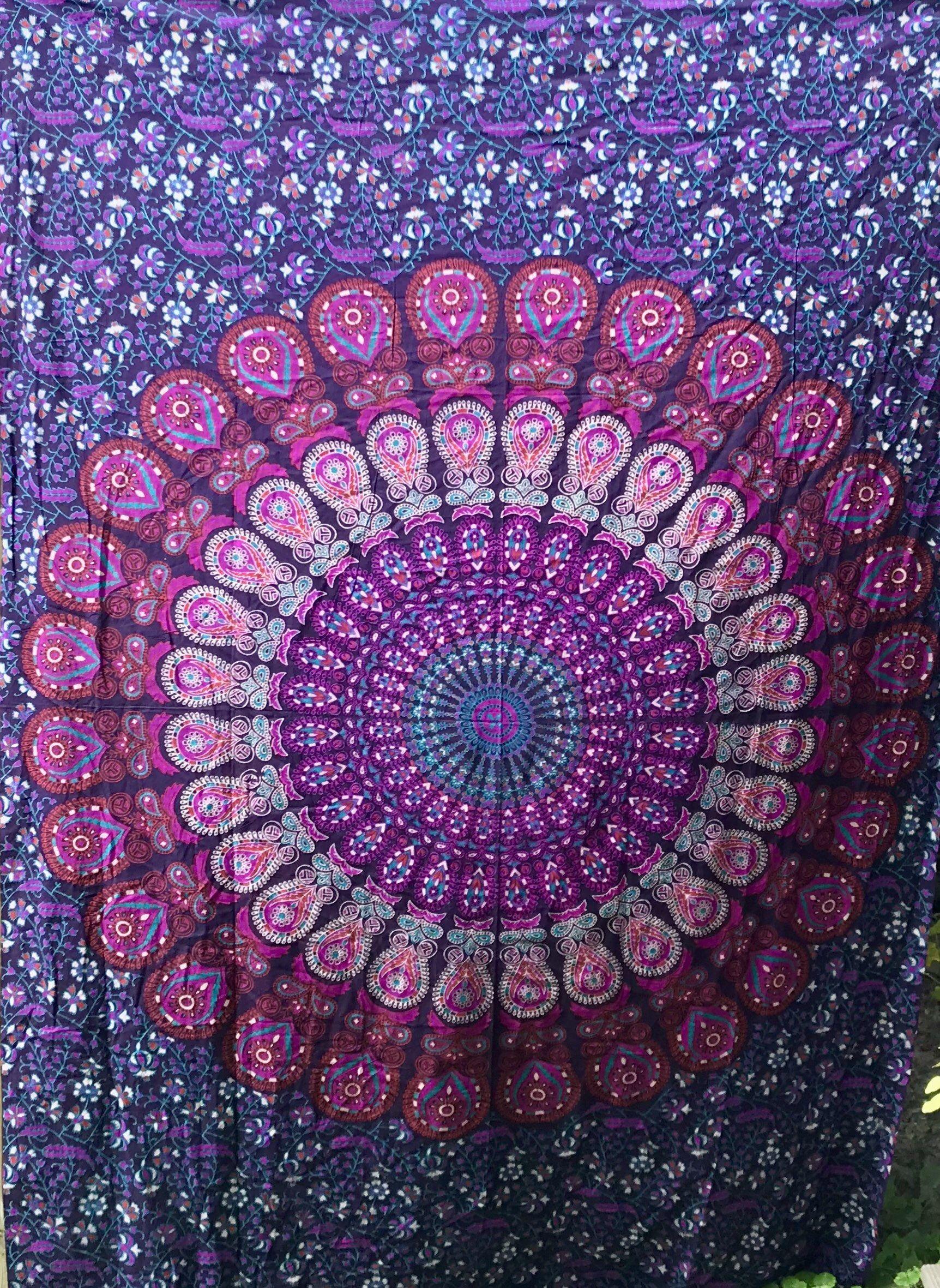 Mandala Tapestry Bohemian Wall Hanging,Psychedelic Wall Art,Dorm