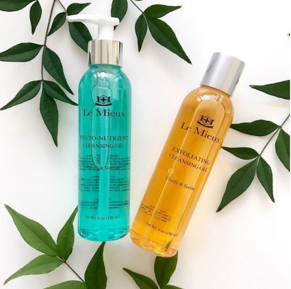 Get A Clean Start With Le Mieux Phyto Nutrient Cleansing Gel And Exfoliatinng Cleansing Gel Check Out Our Website To Fi Cleansing Gel Skin Care Shampoo Bottle