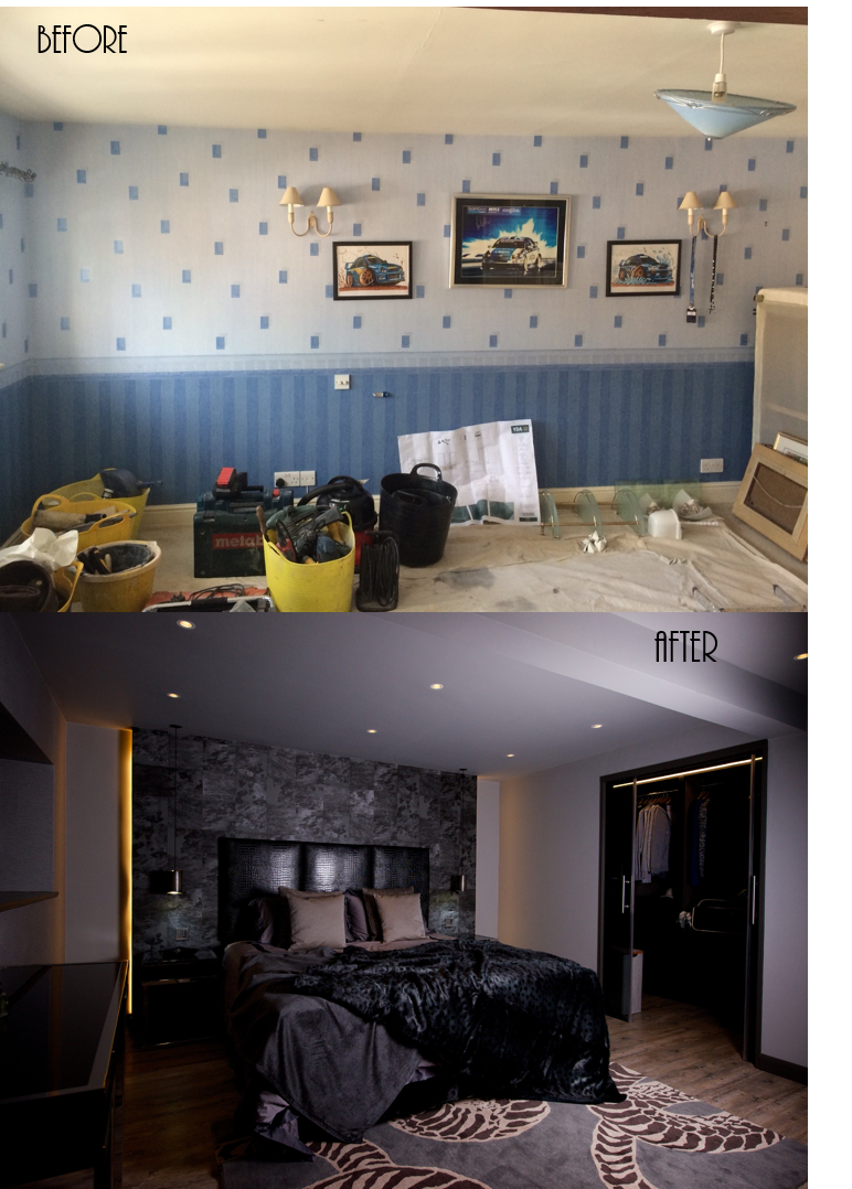 Yorkshire Design Associates Mens Bedroom Bespoke Interior Before And After