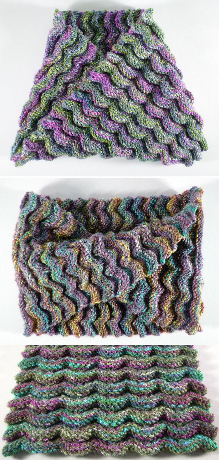 Free Knitting Pattern for Elemental Cowl - The 3 dimensional texture ...