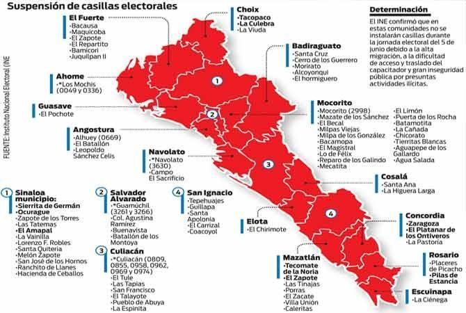 Sinaloa, zona de riesgo; ¿votar es complicado? | EL DEBATE