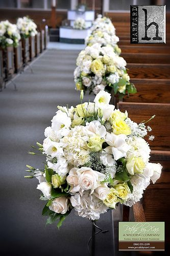 church wedding flower arrangment round small aisle flower arrangement for wedding ceremony 1