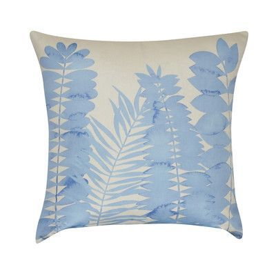 Loom And Mill Leaf Decorative Throw Pillow Color Light Blue Best Light Blue Decorative Throw Pillows