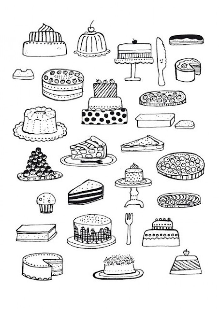 Kleurplaat Over Koken Taartje Tekening Google Zoeken