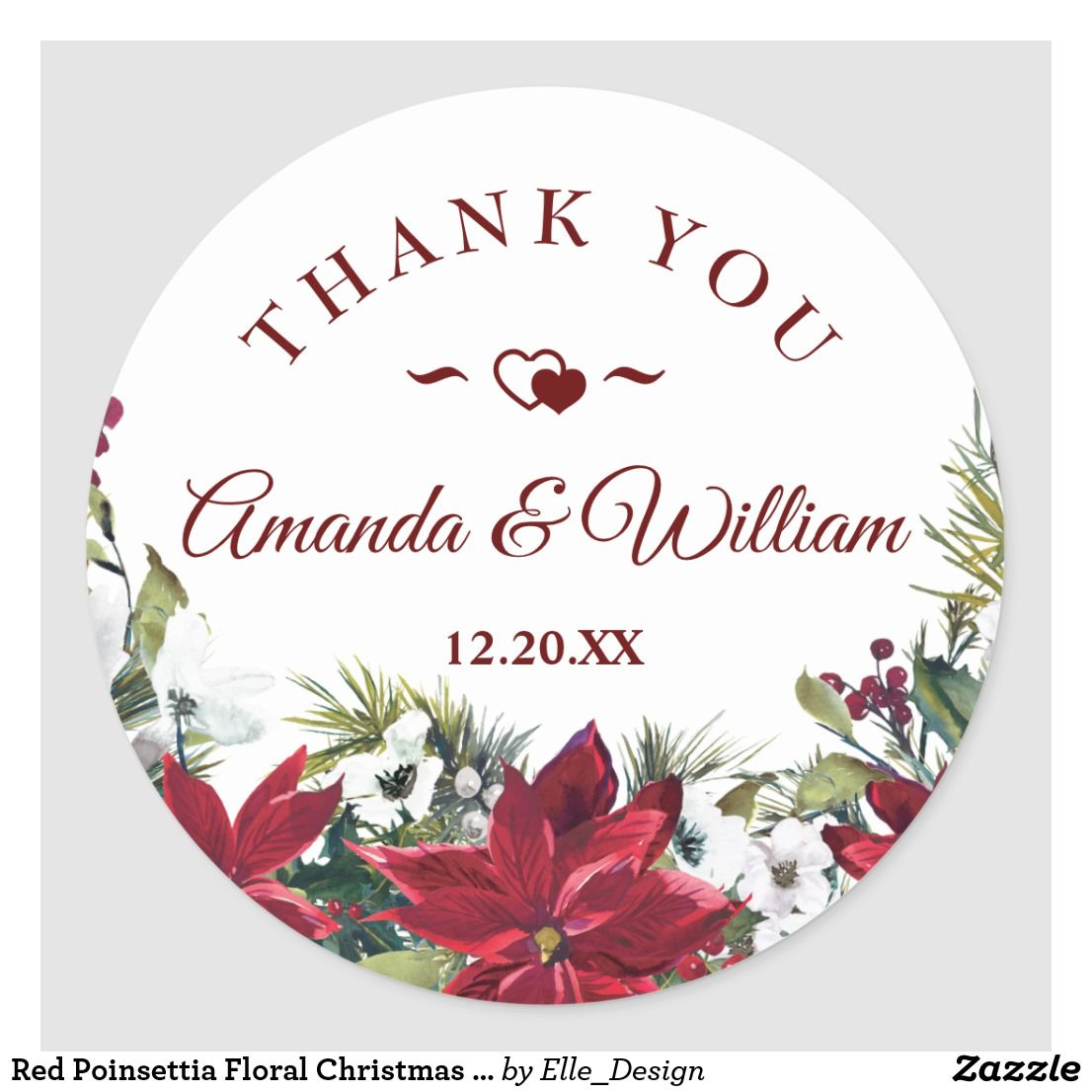 Thank you Stickers Thank you stickers Christmas Wedding for Birthday