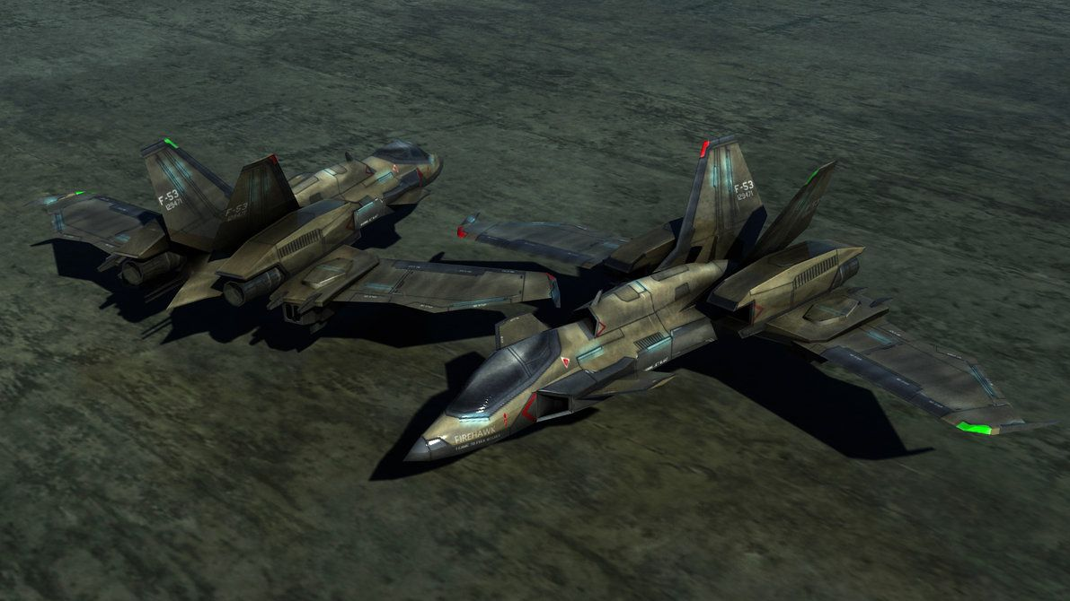 "The Firehawk is a GDI's Strike Fighter, intended for SEAD and CAS type missions. It can reach nearly any point on Earth without refueling by doing a suborbital ""hop"". It's armed with an Ion Cannon ..."