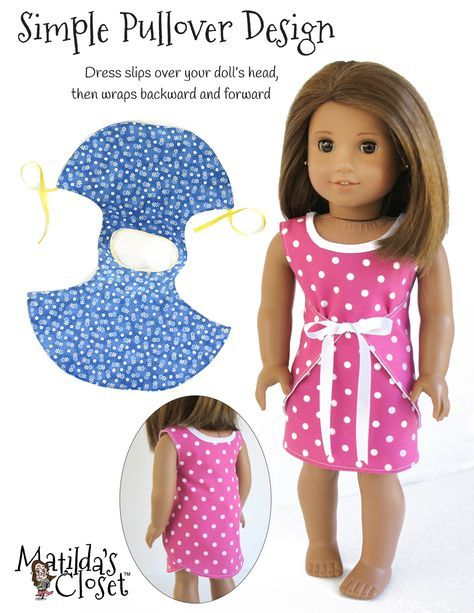 PATTERN: Wraptastic! Reversible Dress #americandolls