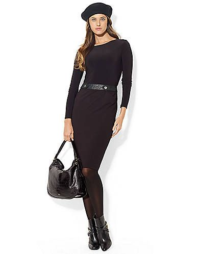 Women S Apparel Work Long Sleeve Banded Dress Lord And Taylor