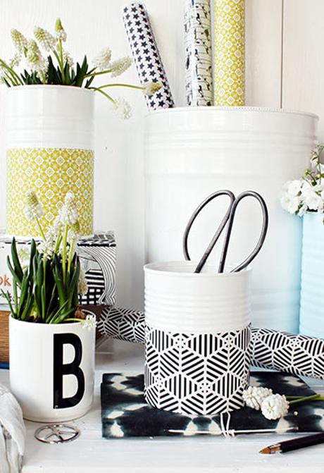 blumentopf selber machen aus konserven dekoideen diy. Black Bedroom Furniture Sets. Home Design Ideas