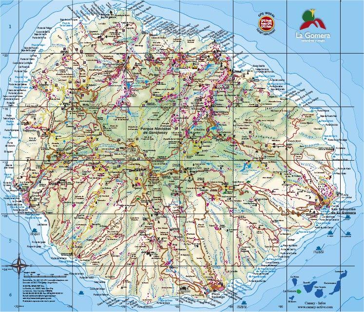 La Gomera Mapa La gomera Pinterest Canary islands La gomera
