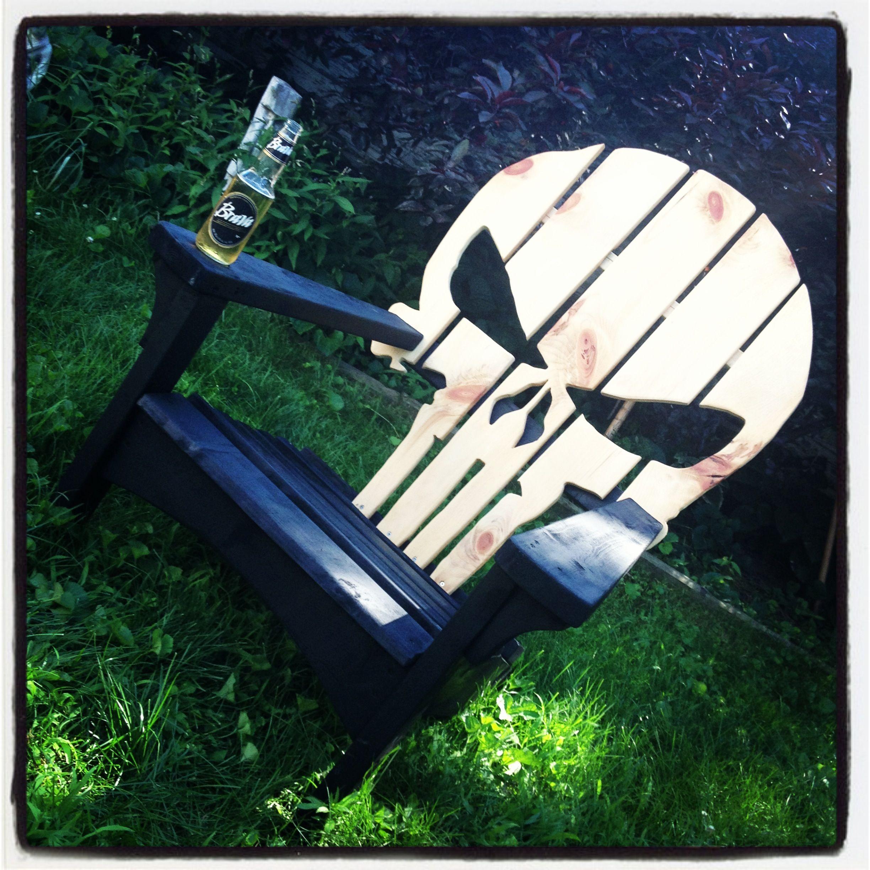 punisher adirondack chair paletten pinterest feuertonnen gartensessel und paletten ideen. Black Bedroom Furniture Sets. Home Design Ideas