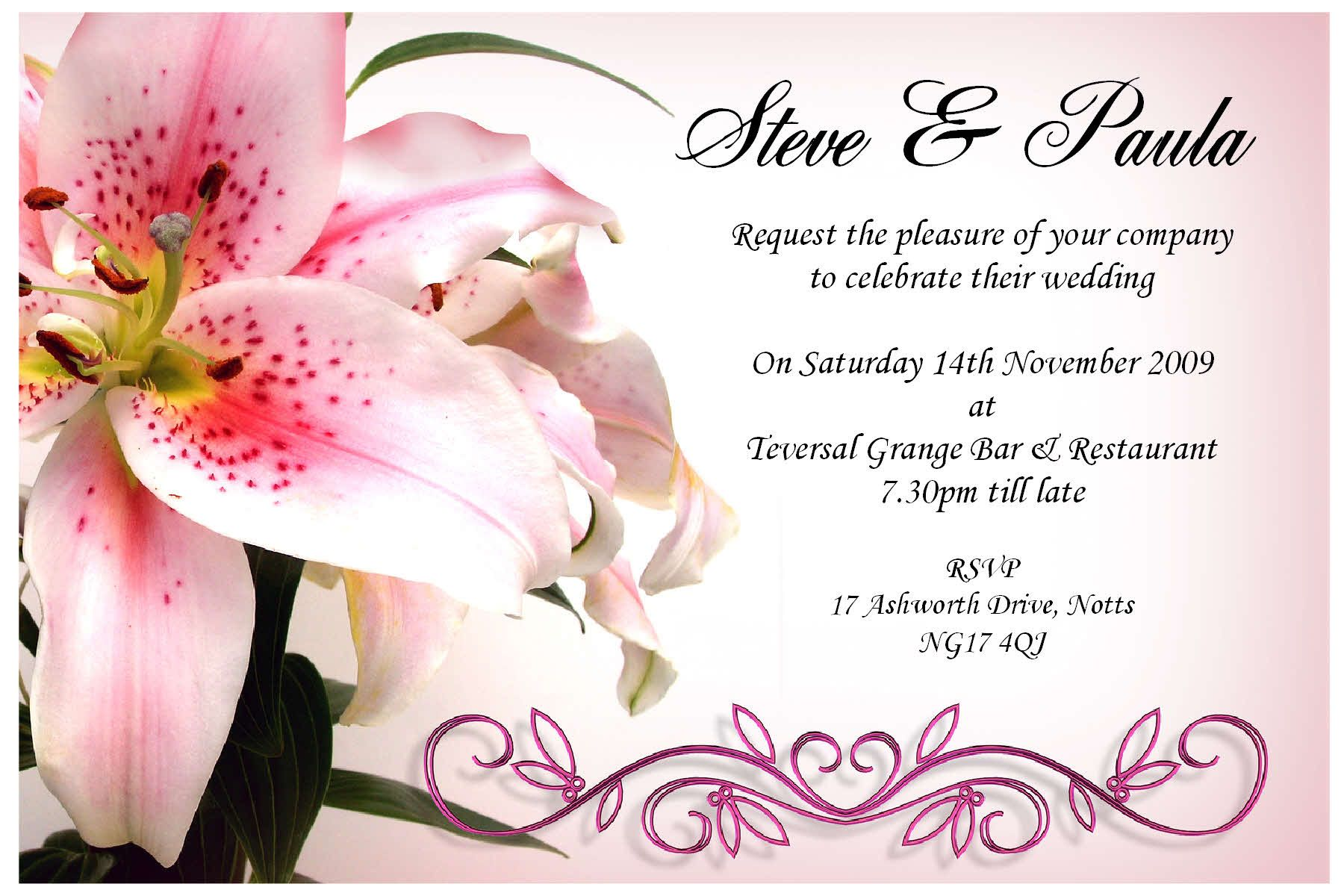 Collection of thousands of Free Affordable Wedding Invitation from