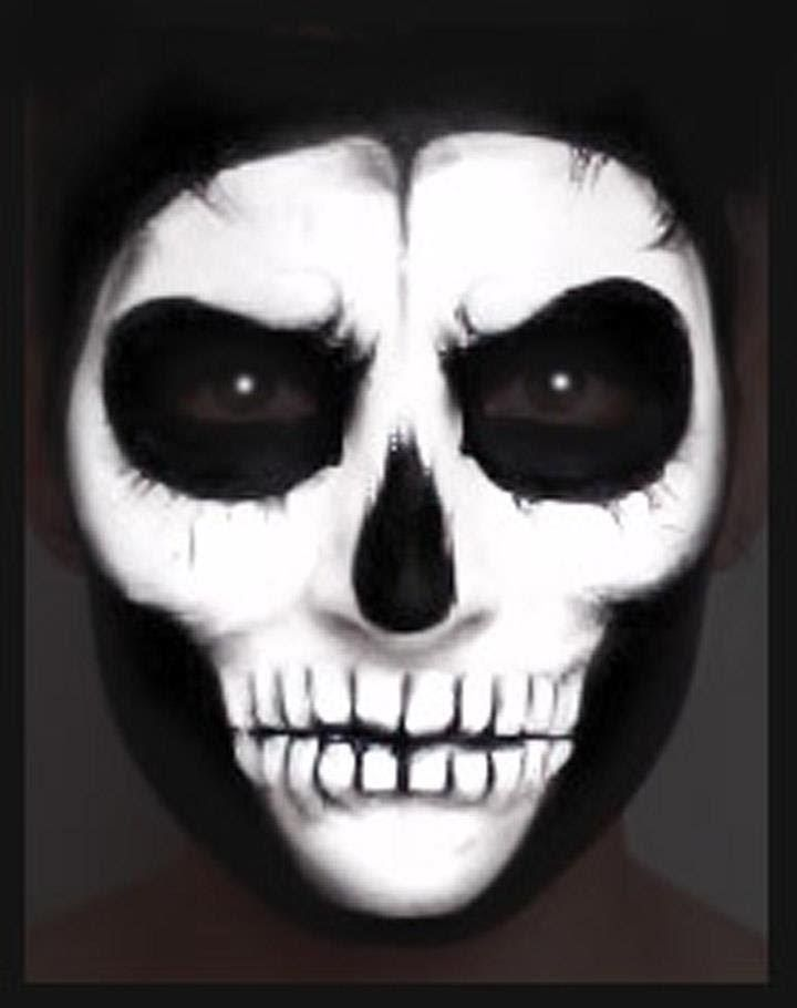 skull face paint makeup tutorial nk - Halloween Skull Face Paint Ideas