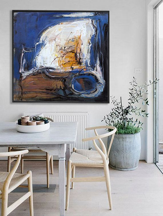 abstract painting acrylic painting large canvas art on modern acrylic paintings for living room id=75661