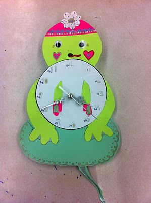 Paper Clocks Made By Grade 5 6 Students Really Easy Art Project
