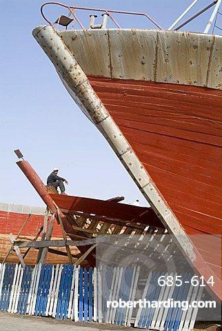 Boat building, Essaouira, Morocco, North Africa, Africa