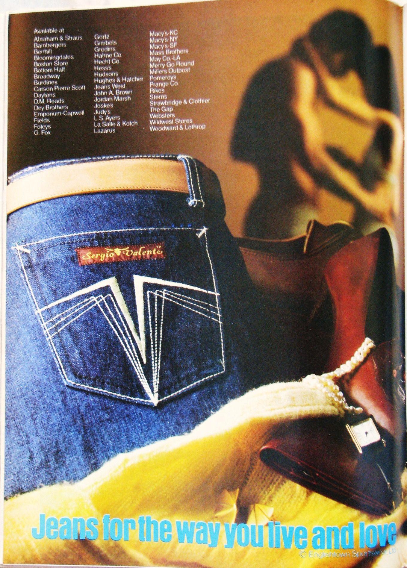 Sergio Valente Jeans Ad 1980 Jeans Hombre Moda De Los 80 Pantalones Vaqueros