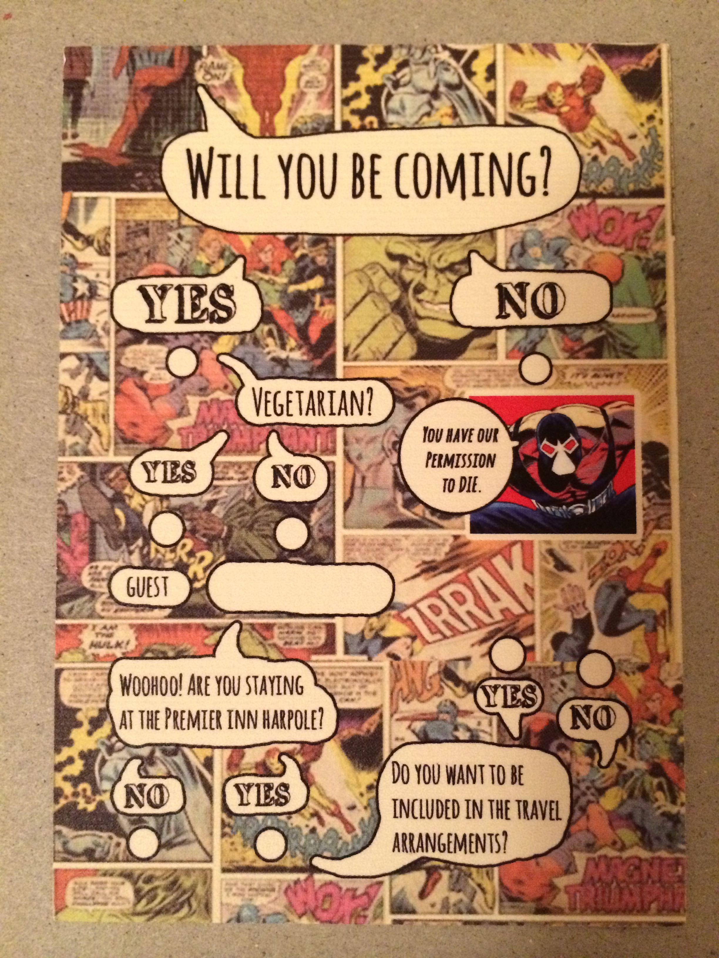 comic book invites   Wedding ideas   Pinterest   Comic ...