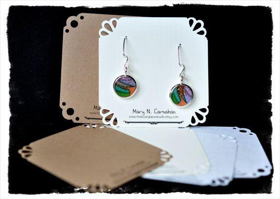 Custom Jewelry Earring Cards Organizer