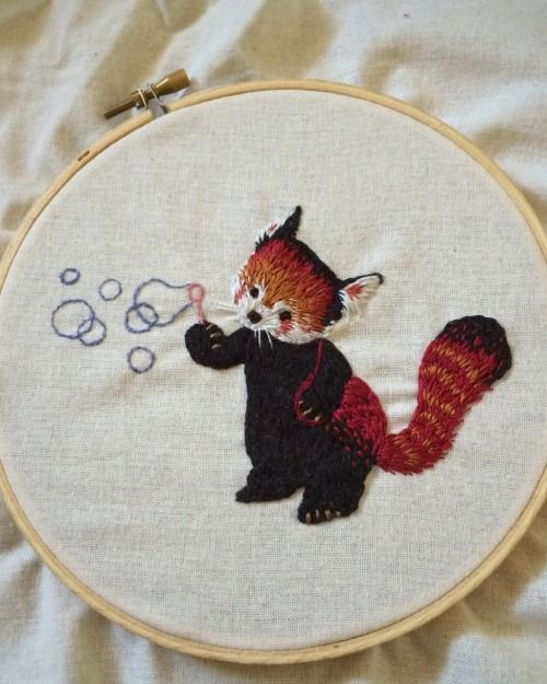Shiny Fabulous Darling — teeny red panda