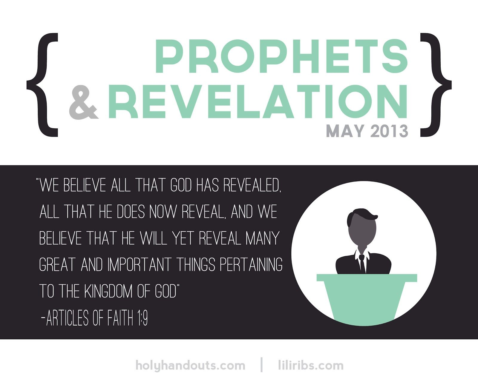 Materials For May Prophets And Revelation From Holyhandouts