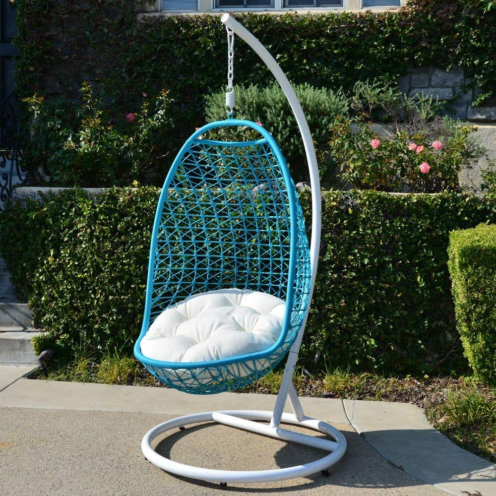 hanging egg chair indoor white