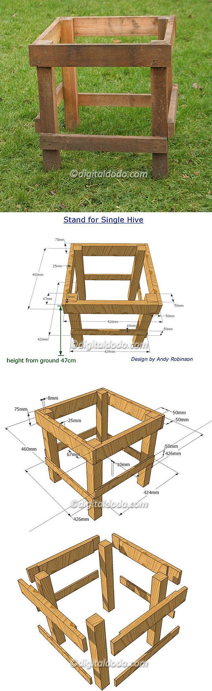 beekeeping hive stand with dimensions bienen halten pinterest bienen halten und bienen. Black Bedroom Furniture Sets. Home Design Ideas